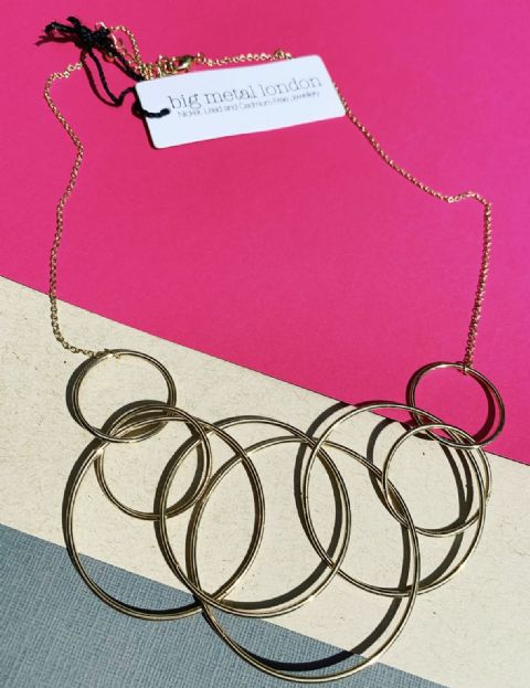 ALIENOR ENTWINNED CIRCLES NECKLACE GOLD